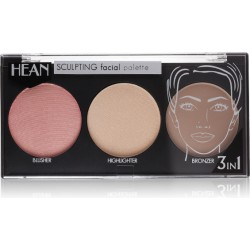 SCULPTING facial palette - blusher, highlighter, bronzer - HEAN