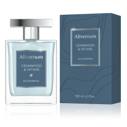 CEDARWOOD & VETIVER - Eau de Parfum for Men 100ml - ALLVERNUM