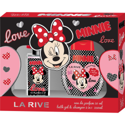 DISNEY MINNIE - Eau de Parfum 50ml + BATH GEL & SHAMPOO 250ml - LA RIVE