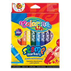 Double ended markers with stamps 10 pcs. - COLORINO