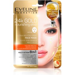 24k GOLD ULTRA-REVITALIZING FACE SHEET MASK - EVELINE COSMETICS