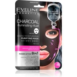CHARCOAL ILLUMINATING RITUAL A deeply purifying Korean fabric mask - EVELINE COSMETICS