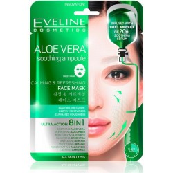 ALOE VERA Soothing Ampoule Sheet Mask - A soothing and refreshing Korean sheet mask - EVELINE COSMETICS