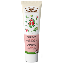 Hand and Nail Cream Moisturizing with Lightening Effect, Cranberry - GREEN PHARMACY