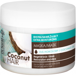 COCONUT HAIR mask with coconut oil for dry hair 300ml - Dr. Santé