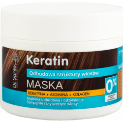 KERATIN hair mask with keratin, arginine and collagen 300ml - Dr. Santé