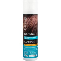 KERATIN shampoo with keratin, arginine and collagen for dull and brittle hair 250ml - Dr. Santé