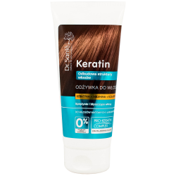KERATIN conditioner with keratin, arginine and collagen for dull and brittle hair 200ml - Dr. Santé