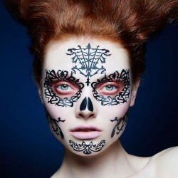 Day Of The Dead Espina- Face Lace
