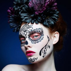 Day Of The Dead Rosa- Face Lace