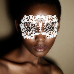 Nouveau White- Face Lace