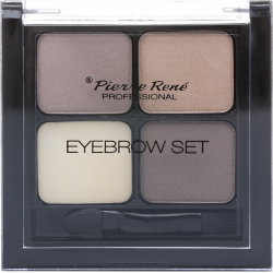 EYEBROW SET (3 SHADOWS +WAX)- Pierre René Professional