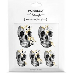 PAPERSELF TATTOO ME - SKULL-GLITTERY MINDS