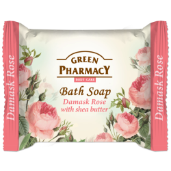 Bath Soap Damask Rose with shea butter - GREEN PHARMACY