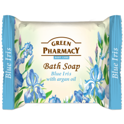 Bath Soap Blue Iris with argan oil - GREEN PHARMACY
