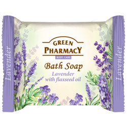 Bath Soap Lavender with flaxseed oil - GREEN PHARMACY