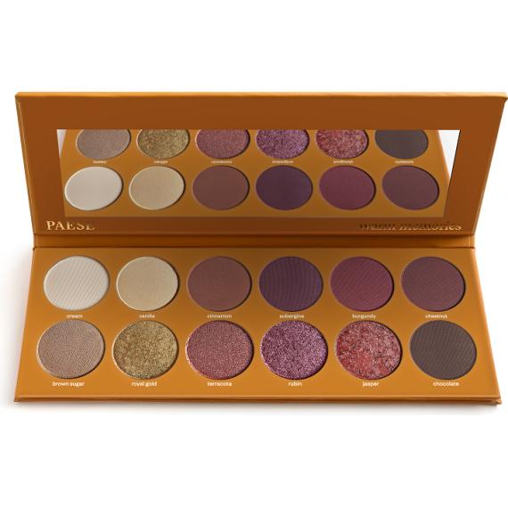 Eyeshadow palette WARM MEMORIES - PAESE
