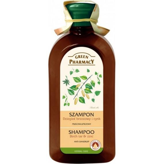 Anti-dandruff shampoo Birch tar and Zinc - GREEN PHARMACY