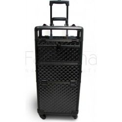 Beauty Trolley Case 2in1 Pink Diamond 4 wheels