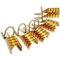 Reusable Metal Nail Form - 5 pcs. - Gold
