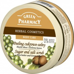 Salt and Sugar Scrub Shea Butter and Green Coffee - GREEN PHARMACY