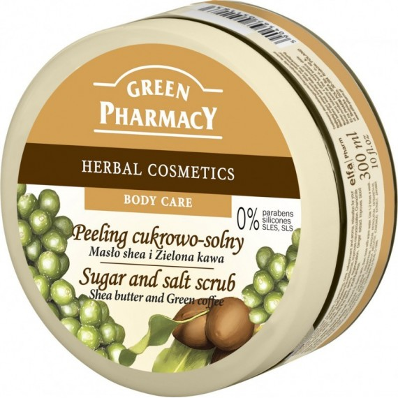 Salt and Sugar Scrub Shea Butter and Green Coffee - GREEN PHARMACY