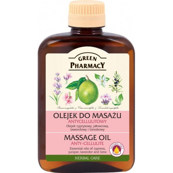 Massage Oil anti-cellulite cypress, juniper, lavender and lime oils - GREEN PHARMACY