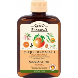 Massage Oil warming Orange oil, cinnamon, pepper - GREEN PHARMACY