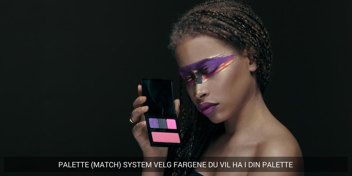 Vårt unike Palette Match System fra Pierre Rene Professional gir deg muligheten til å sette sammen ditt personlige makeupsett.